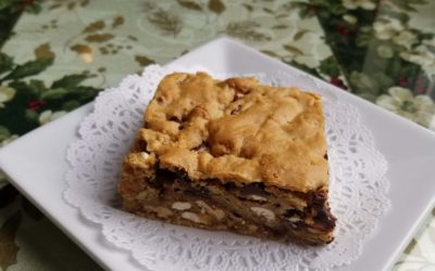 Pecan, Pretzel, Chocolate Chip Blondies Recipe
